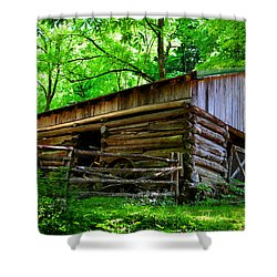 Mill House Barn Shower Curtain by David Lee Thompson