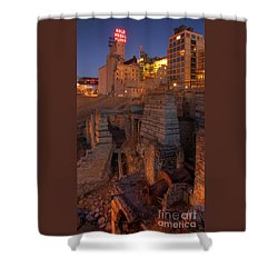 Mill Ruins Park Shower Curtain by Kent Taylor