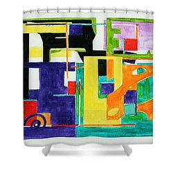 Mindscape II Shower Curtain by Xueling Zou