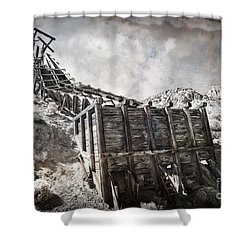 Mine Structure In Silver City Shower Curtain by Dianne Phelps