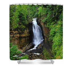 Miners Falls  2 Shower Curtain by Rachel Cohen