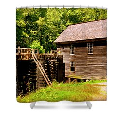 Mingus Mill Shower Curtain by Karen Wiles