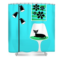 Mini Groovy Flowers 2 Shower Curtain by Donna Mibus