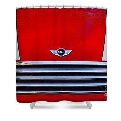 Mini Red Shower Curtain by Aimelle
