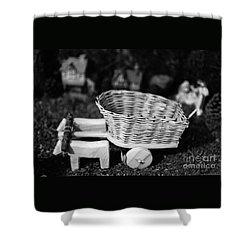 Miniature Oxen-cart Shower Curtain by Gaspar Avila