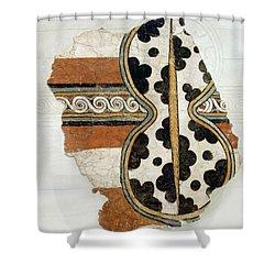 Minoan Livestock Painting Shower Curtain by Ellen Henneke