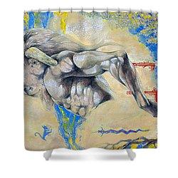 Minotaur Shower Curtain by Derrick Higgins