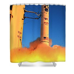 Minotaur Iv Rocket Launches Falconsat-5 Shower Curtain by Science Source