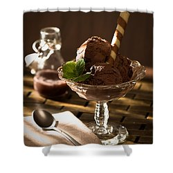 Mint Choc Chip Ice Cream Shower Curtain by Amanda And Christopher Elwell