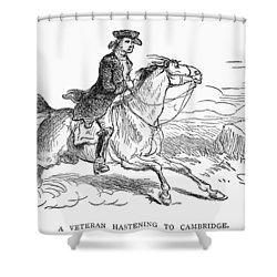Minuteman, C1775 Shower Curtain by Granger