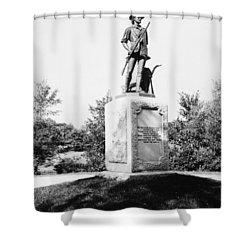 Minuteman Statue Shower Curtain by Granger