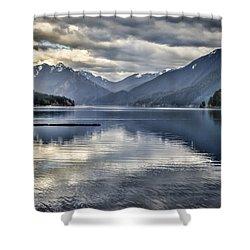 Mirror Image Shower Curtain by Heather Applegate