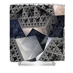 Mirrored Panels Shower Curtain by Kevin Trow