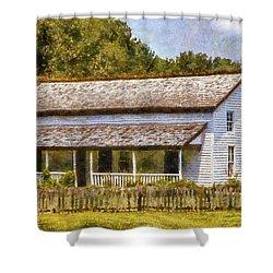 Miss Becky's House Shower Curtain by Barry Jones
