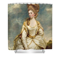 Miss Sarah Campbell Shower Curtain by Sir Joshua Reynolds