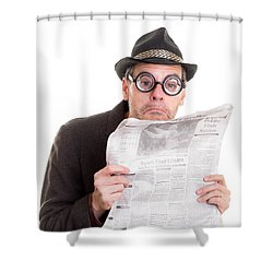 Miss You In The Funny Papers Shower Curtain by Edward Fielding
