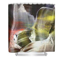 Missing Link Outside These Times Shower Curtain by Cristina Handrabur