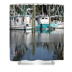 Mississippi Boats Shower Curtain by Carol Groenen