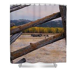 Missouri River History Shower Curtain by Leland D Howard