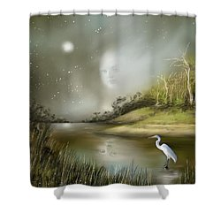 Mistress Of The Glade Shower Curtain by Susi Galloway