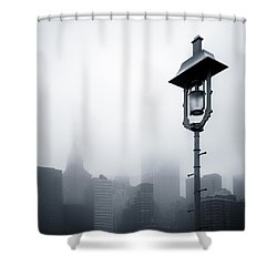 Misty City Shower Curtain by Dave Bowman