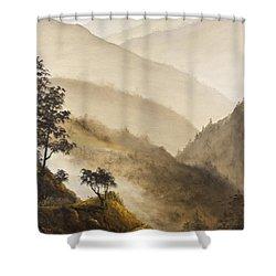 Misty Hills Shower Curtain by Darice Machel McGuire