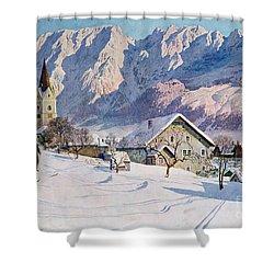 Mitterndorf In Austria Shower Curtain by Gustave Jahn