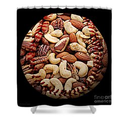 Mixed Nuts Baseball Square Shower Curtain by Andee Design