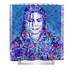 Mj Floral Version 2 Shower Curtain by Bekim Art