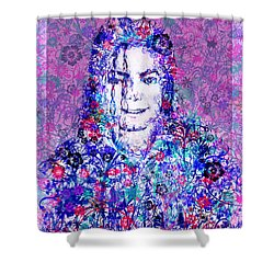 Mj Floral Version Shower Curtain by Bekim Art