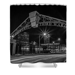 Mke Third Ward Shower Curtain by CJ Schmit