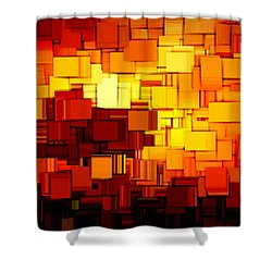 Modern Abstract Xi Shower Curtain by Lourry Legarde
