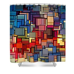 Modern Abstract Xii Shower Curtain by Lourry Legarde