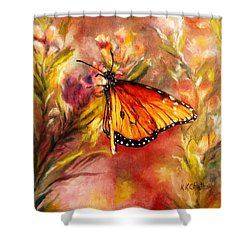 Monarch Beauty Shower Curtain by Karen Kennedy Chatham