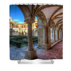 Monastery Of Nossa Senhora Da Assuncao Shower Curtain by English Landscapes