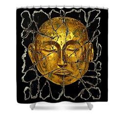 Monk In Meditation Shower Curtain by Steve Bogdanoff