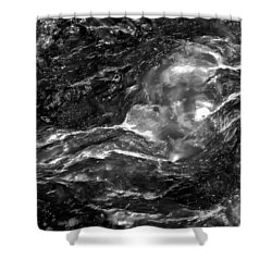 Monochrome Sea Shower Curtain by  Onyonet  Photo Studios