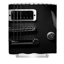 Monochrome Yamaha 3 Shower Curtain by David Weeks