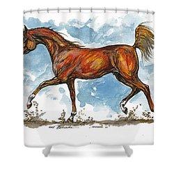 Monogramm 1 Shower Curtain by Angel  Tarantella