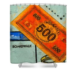 Monopoly Money Shower Curtain by Dan Sproul