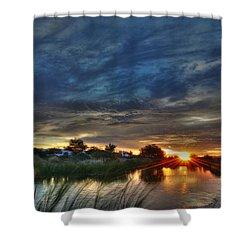 Monsoon Sunset Shower Curtain by Tam Ryan