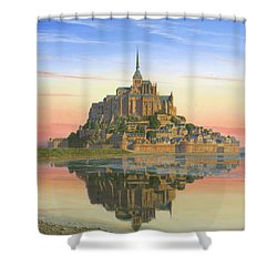 Mont Saint-michel Morn Shower Curtain by Richard Harpum