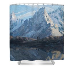 Montain Mirror Shower Curtain by Marco Busoni
