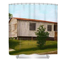 Montalvo Family House - Puerto Rico Shower Curtain by Robin Capecci