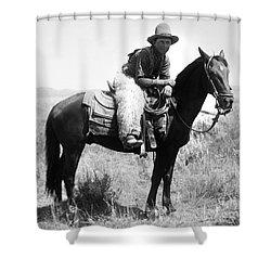 Montana Cowboy 1904 Shower Curtain by Granger