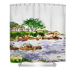 Monterey- California Sketchbook Project Shower Curtain by Irina Sztukowski