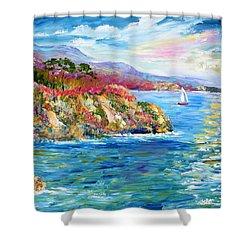 Monterey California Spring Shower Curtain by Karen Tarlton
