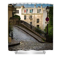 Montmartre Alley Shower Curtain by Inge Johnsson