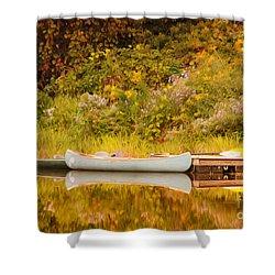 Montpelier Canoe Shower Curtain by Deborah Benoit