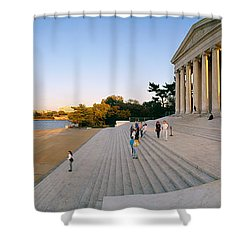 Monument At The Riverside, Jefferson Shower Curtain by Panoramic Images